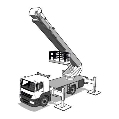 Ausbildung Hubarbeitsbühne Arbeitsbühne Lastwagenbühne